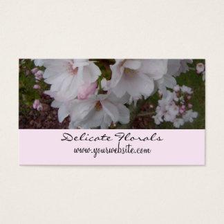 Tarjeta De Visita Flores de cerezo delicadas