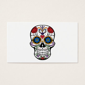 Tarjeta De Visita Flores de la cabeza de muerte