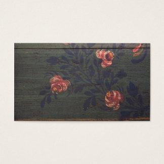 Tarjeta De Visita Flores rústicas del vintage