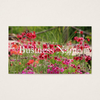 Tarjeta de visita florida rosada
