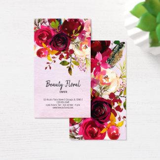Tarjeta De Visita Florista del ramo de las flores