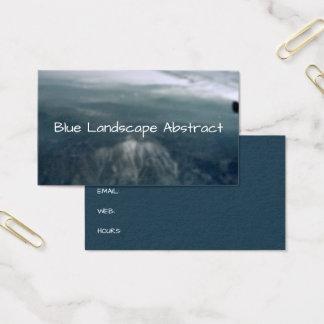 Tarjeta De Visita Fondo azul abstracto del paisaje de las montañas