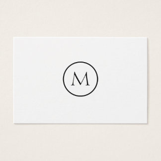 Tarjeta De Visita Fondo blanco con monograma minimalista