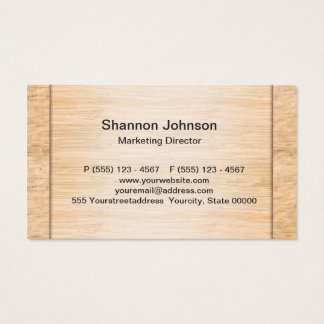 Tarjeta De Visita Fondo de madera de bambú