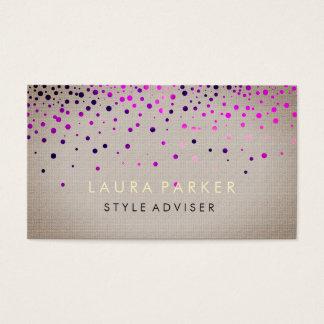 Tarjeta De Visita Fondo poner crema sutil del purpurina elegante