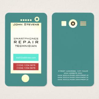 Tarjeta De Visita Forma divertida de la mirada del teléfono celular