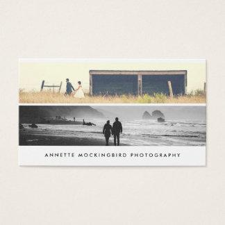 Tarjeta De Visita Foto minimalista simple moderna dos de la