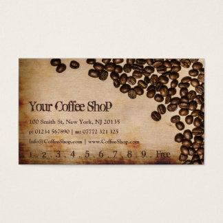 Tarjeta De Visita Foto vieja del grano de café de la arpillera -