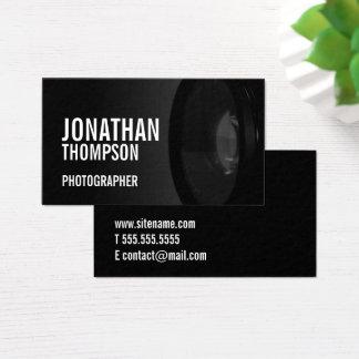 Tarjeta De Visita Fotografía blanco y negro profesional