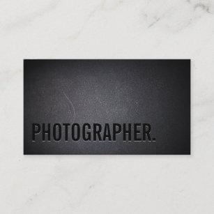 fe7a26e207626 Tarjeta De Visita Fotografía intrépida minimalista del texto del