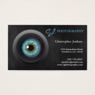 Tarjeta De Visita Fotógrafo fresco de la lente de cámara del ojo