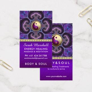 Tarjeta De Visita Fractales púrpuras que curan edad holística de la
