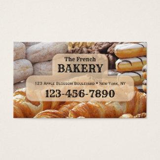 Tarjeta de visita francesa de la panadería