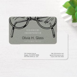 Tarjeta De Visita Franela gris de las gafas de las gafas falsa