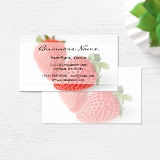 Tarjeta De Visita Fresas frescas