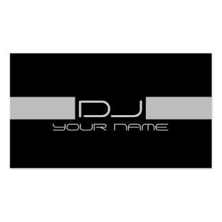 Tarjeta de visita fresca de DJ
