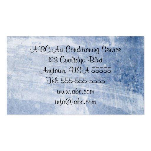 Tarjeta de visita fresca de los azules claros