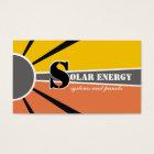 Tarjeta De Visita Fuentes alternativas solares/del sol de la
