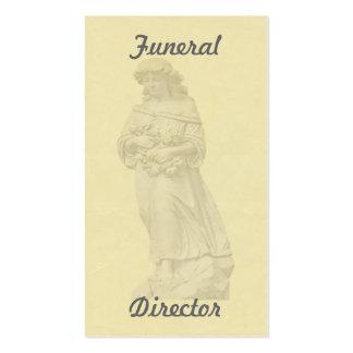 Tarjeta de visita fúnebre del ángel
