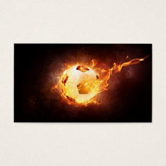 Tarjeta De Visita Fútbol bajo fuego, bola, fútbol