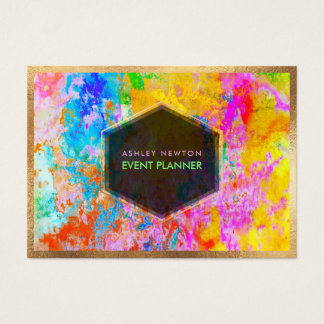 Tarjeta De Visita Galaxia abstracta de PixDezines/colores de neón