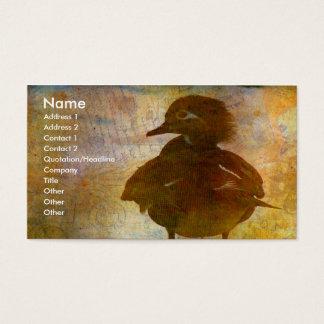 Tarjeta De Visita Gallina del pato de madera