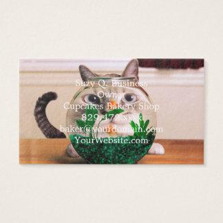 Tarjeta De Visita Gato y pescados - gato - gatos divertidos - gato