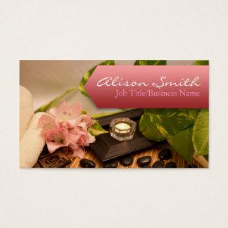 Tarjeta De Visita Generic health/spa/massage business card