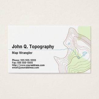 Tarjeta De Visita Geólogo, mapa topográfico del cartógrafo personal