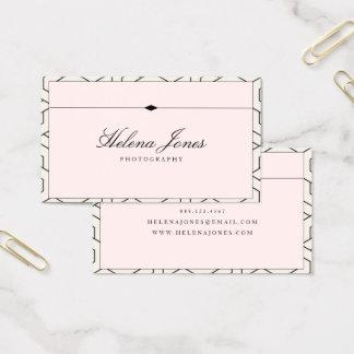 Tarjeta De Visita Geométrico rosado hermoso del ★