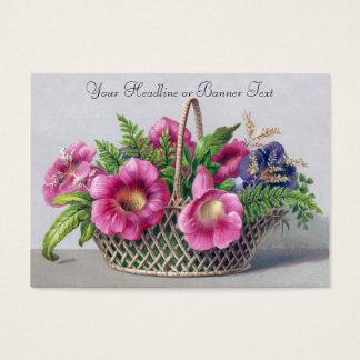 Tarjeta De Visita Gloxinia y helechos en Victorian del vintage de la