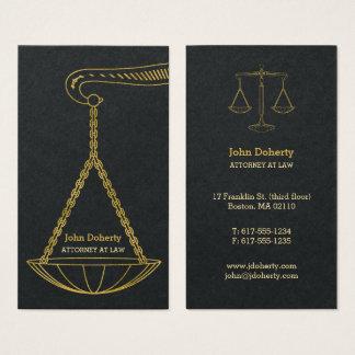 Tarjeta De Visita GoldenScales del abogado profesional de la