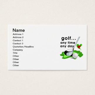 Tarjeta De Visita Golf en cualquier momento cuaesquiera camisetas y