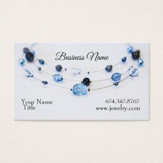Tarjeta De Visita Gotas elegantes del azul del diseñador de la