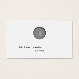 Tarjeta de visita grabada en relieve gris mínimo