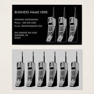 Tarjeta De Visita Gráfico retro del teléfono móvil
