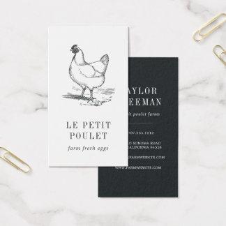 Tarjeta De Visita Granja de la gallina el | del vintage