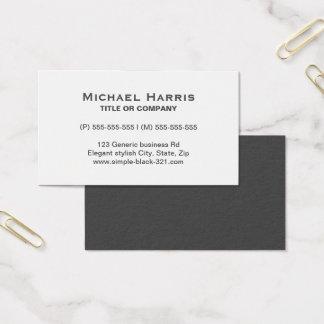 Tarjeta de visita gris blanca elegante simple