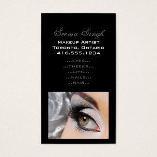 Tarjeta De Visita Gris del ojo de Smokey del maquillaje