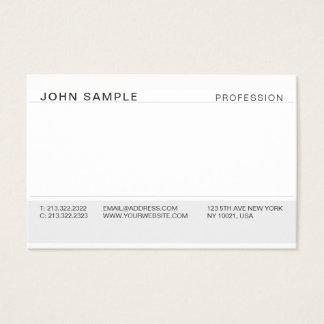 Tarjeta De Visita Gris elegante profesional moderno simple