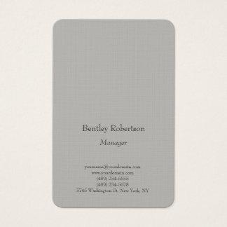 Tarjeta De Visita Gris minimalista simple llano de moda legible