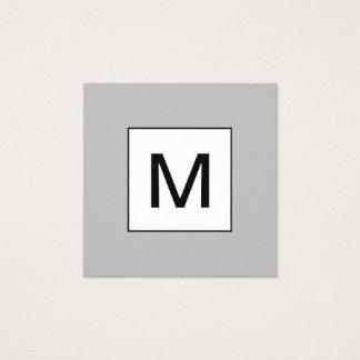 Tarjeta de visita gris moderna minimalista del