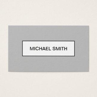 Tarjeta de visita gris profesional moderna