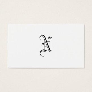 Tarjeta De Visita Grunge del monograma de Simples