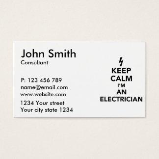 Tarjeta De Visita Guarde la calma que soy electricista