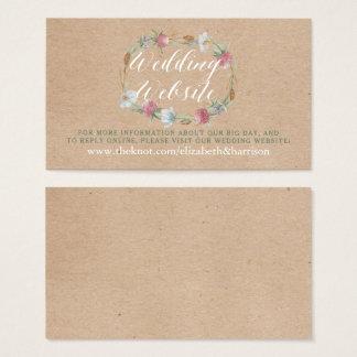 Tarjeta De Visita Guirnalda del Wildflower en el Web site del boda