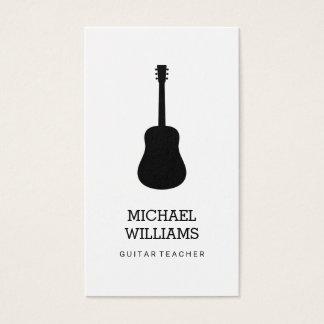 Tarjeta De Visita Guitarra acústica del músico minimalista