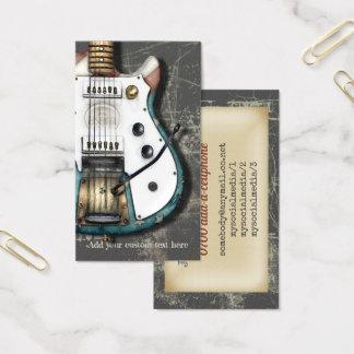 Tarjeta De Visita Guitarra eléctrica retra de la bandera americana