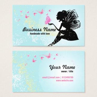 tarjeta de visita - hada, mariposa, fantástica