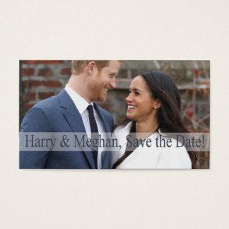 Tarjeta De Visita ¡Harry y Meghan, ahorran la fecha!